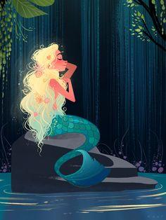 mermaid for mermay! Art by NOOR SOFI instagram: noor_sofi_art