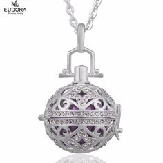 Pregnancy Gift Eudora Harmony Bola Ball Jewelry Copper Locket Cage with Angel Caller Chime Ball Pendant Necklace For Pregnant