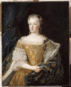 Portrait de Marie Leczinska Van Loo Jean Baptiste (1684-1745) (atelier de) Blois, château, musée des Beaux-Arts