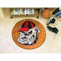 Georgia Bulldogs NCAA Basketball Round Floor Mat (29) Bulldog Logo