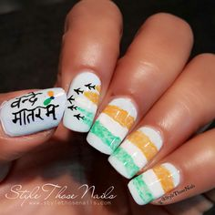 Style Those Nails: 67th Republic Day of India - Flying Tricolor Nailart