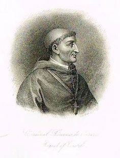 """""""CARDINAL XIMENES DE CISNERO, REGENT OF CASTILE"""" - Fancy Steel Engraving - c1835"""