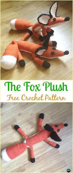 Crochet The Fox Plush Amigurumi Free Pattern - #Crochet Amigurumi Fox Free Patterns
