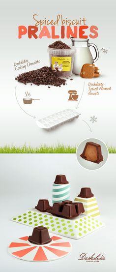 Spiced Biscuits Pralines #Daskalides #chocolate #pralines
