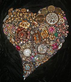 Broken Glass Mosaic Art | Mosaic Heart Art – Happy Valentine's Day! | Mosaic Art Source
