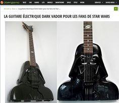 ToyzMag.com » vraie Guitare électrique Dark Vador ou jouet recyclé ?