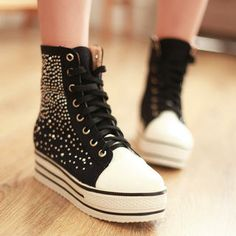 Buy '77Queen – Rhinestone Platform Sneakers' at YesStyle.com plus more China items and get Free International Shipping on qualifying orders.