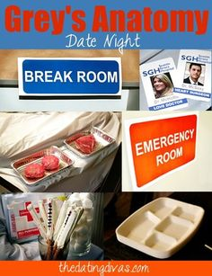Grey's Anatomy Themed Date Night OR Party! www.TheDatingDivas.com