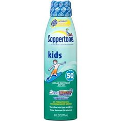 Coppertone Kids Sunscreen Spray SPF 50, 6 Fl Oz, Multicolor