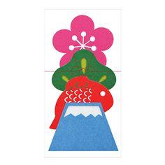 日本人の心に響くお正月らしいモチーフが、フェルト製なのであたたかい風合いでなごみます Chinese Calendar, Japanese Graphic Design, Asian Design, New Year Card, Japanese Culture, Paper Design, Packaging Design, Graphic Art, Paper Crafts
