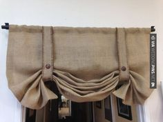 Burlap+valance/London+shade/Tie+up+shade/Country+by+pillowpuff,+$48.00 – wedding decor trends 2015