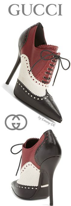 Emmy DE * Gucci 'Gia' Pointy Toe Bootie