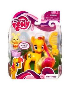 My Little Pony Figure Honeybuzz with Saddle by Hasbro. $16.95. bee. comb. saddle. pony figure. My Little Pony Honeybuzz with Purple Saddle, Puppy and comb. Honeybuzz has a flying bee imprinted on her and long hair to comb and style. A great gift for the collector!