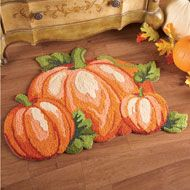 Fall Pumpkin Patch Accent Rug from Collections Etc.