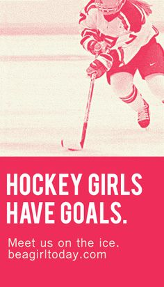 We love to see female hockey players going after the puck just as hard as the boys!