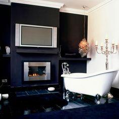 Wohnideen Badezimmer dunkel lila königlich Foto - Oliver Beamish