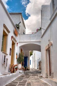 Paros: Lefkes street by Dimitris Gikas