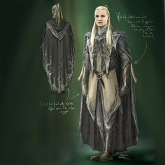 Legolas - The Desolation Of Smaug concept art ARE YOU EFFING KIDDING ME?? THEY HAD THE CHANCE TO HAVE HIM LOOK LIKE AN ACTUAL COMMANDER  AND MEMBER OF HIS FATHER'S FORCES AND THEY BLEW IT. THIS IS THE PERFECT WARDROBE COMPANION TO THRANDUIL'S OUTFIT, BEFITTING OF THE KING'S SON. BUT NOO.GOTTA HAVE THE FORCED ANTAGONISM AND TEENAGE REBELLION AND LOVE CLICHES. *wipes foam from mouth* well God bless you, Daniel Falconer, for at least trying. You are a beautiful person. Jackson fuck you to hell.