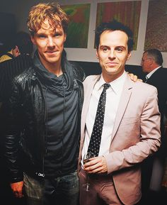Benedict Cumberbatch & Andrew Scott <<< (Almost-gingerBatch with messy curls and leather will be the death of me.)