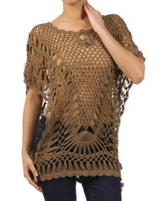 Another great find on #zulily! Mocha Mackerel Knit Sweater by BellaBerry #zulilyfinds
