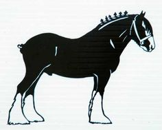 Clydesdale Horse Outline Google Search Clydesdale