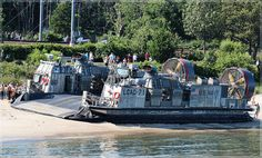 LCAC 71 (Landing Craft Air Cushion) - attached to USS Carter Hall, -- OpSailCT 2012    McCook Point Park, Niantic CT