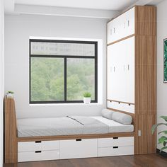 Box Room Bedroom Ideas, Small Room Design Bedroom, Bedroom Furniture Design, Bedroom Layouts, Home Room Design, Small Bedroom Inspiration, Small Apartment Interior, Bed Cabinet, Box Bed