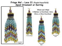 "Fringe Me! - Lace 21, Spool Ornament or Earring Tutorial by Rita Sova                                                                                            <div class=""pinSocialMeta"">                                         <a class=""socialItem"" href=""/pin/408560997420335507/repins/"">             <em class=""repinIconSmall""></em>             <em class=""socialMetaCount repinCountSmall"">                 1             </em>         </a>"