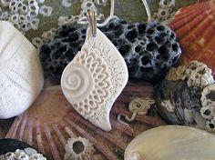 Sculpted porcelain pendant ~ Mairi Stone