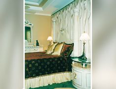 Master Bedroom – Bed Wall Drapery, Custom Bedding and Pillows | http://sarasotawindowtreatments.com/project/master-bedroom-bed-wall-drapery-custom-bedding-and-pillows/
