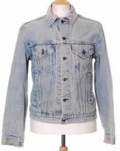 Distressed Vintage Blue Levi Strauss denim trucker jacket - Medium #EasyPin