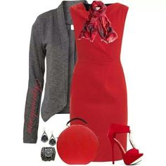 cute look, but i would switch the scarf to black and white, shoes to black and a gray blazer