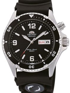 Orient Mako Black Dial Automatic Dive Watch with Rubber Dive Strap #EM65004B. Nice, basic dive watch. $120.