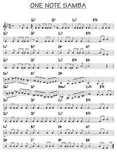 Partition One note samba piano guitare