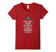 Womens Funny Teacher Coffee Shirt Back To School Gift Lar...