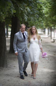 Norsk par gifter seg i Paris sommeren 2014.