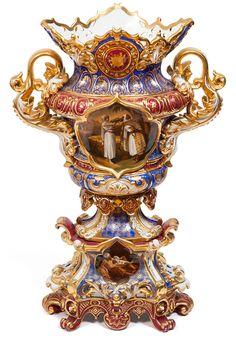 A Russian Porcelain Vase. Porcelain Jewelry, Fine Porcelain, Porcelain Ceramics, Porcelain Tiles, Baroque, Antique Glass, Vases Decor, Glass Art, Vintage