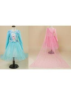 Frozen Vestito tutù Compleanno Bambina Manica Lunga 00056
