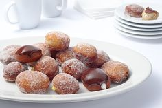 Traditionally, sufganiyot (Israeli-style filled donuts), eaten during Hanukkah, are filled with strawberry or raspberry jam. But these days, you can walk down the streets of Tel Aviv or Jerusalem and