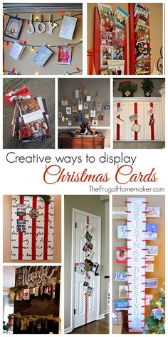 Creative ways to display Christmas cards - 31 days to take the Stress out of Christmas Christmas Time Is Here, Christmas Love, All Things Christmas, Winter Christmas, Christmas Ideas, Holiday Ideas, Merry Christmas, Holiday Time, Homemade Christmas