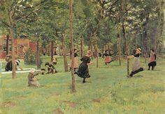 Spielende Kinder. By Max Liebermann.
