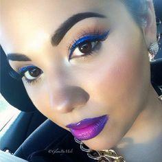 .@glambymeli |  Sun was blazing and my @feyoshecosmetics lips still look vibrant as hell lol... | Webstagram