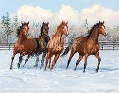 Resultado de imagen para cuadros de caballos salvajes