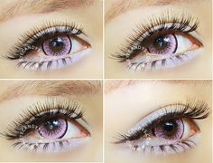 Cosplay Contacts, Cosplay Makeup, Gyaru Makeup, Prescription Colored Contacts, Color Contacts, Fresh Shop, Eye Colors, Circle Lenses, Makeup Step By Step