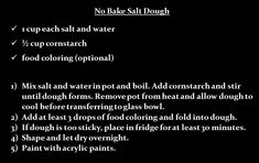 No bake salt dough recipe for crafting No Bake Salt Dough Recipe, Craft Projects, Projects To Try, Craft Ideas, Glass Transfer, Art Therapy Activities, Speech Therapy, Homemade Gifts, Halloween Crafts