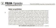 Opinião publicada na Folha de Londrina, 03/12/2013