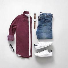 "3,038 Likes, 12 Comments - TheStylishMan.com (@shopthatgrid) on Instagram: ""Jacket:@roarkrevival Shirt:@hm Denim:@roarkrevival Sneakers:@converse Hat:@benshermanofficial…"""