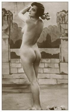 "Vintage Erotic Photo Nude c1920's Deco Naked Lady Photograph Erotica 7"" x 5"""
