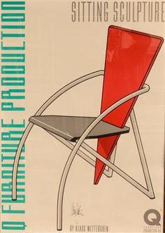Lauritz.com - Grafik - Poster 'Sitting Sculpture' - SE, Malmö, Baltzarsgatan