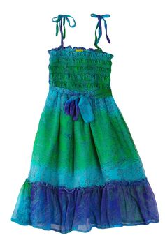 Peace Of Cake Hippy Dip-Dyed Smock Dress